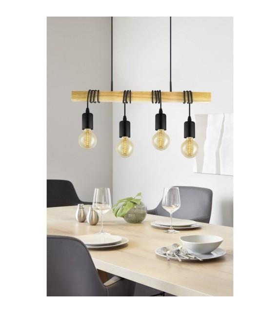 Lustra Townshend - 32916 Eglo, 4xE27, stil scandinav, maro-negru