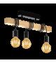 Plafoniera Townshend - 32915 Eglo, 3xE27, stil scandinav, maro-negru