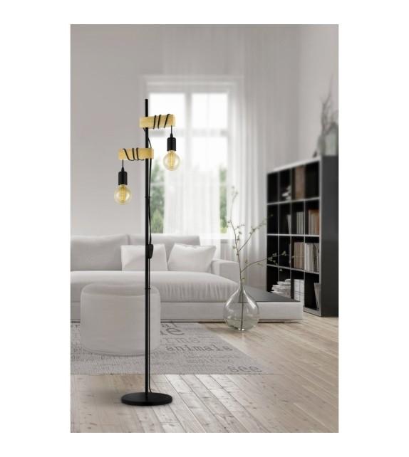 Lampadar Townshend - 32919 Eglo, 2xE27, stil scandinav, maro-negru