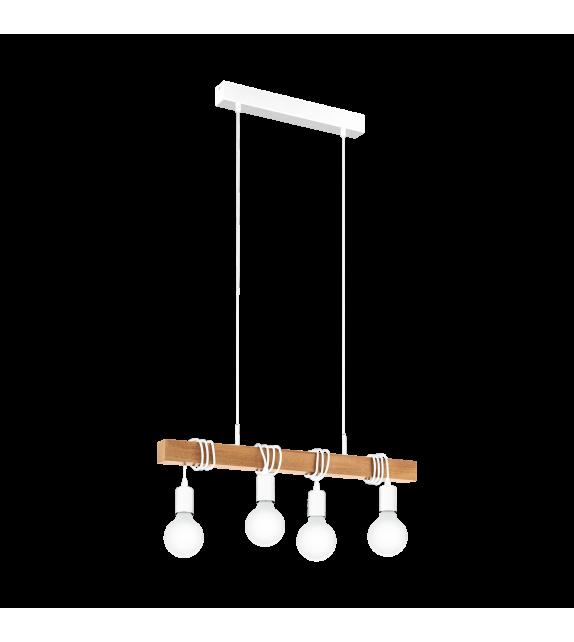 Pendul Townshend - 33164 Eglo, 4xE27, stil scandinav, maro-alb