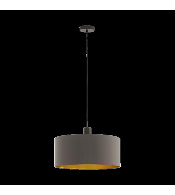 Pendul CONCESSA 97683 Eglo, E27, 1x60W, maro inchis, cappuccino-auriu