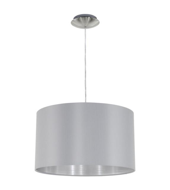 Pendul MASERLO 31601 Eglo, E27, 1x60W, nichel satinat, gri-argintiu