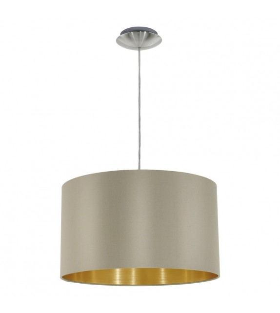 Pendul MASERLO 31602 Eglo, E27, 1x60W, nichel satinat, taupe-auriu