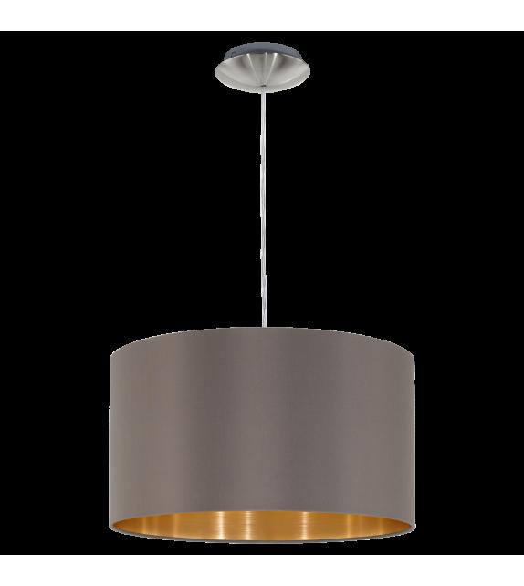 Pendul MASERLO 31603 Eglo, E27, 1x60W, nichel satinat, cappuccino-auriu