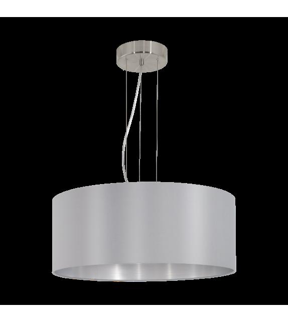 Pendul MASERLO 31606 Eglo, E27, 3x60W, nichel satinat, gri-argintiu