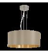 Pendul MASERLO 31607 Eglo, E27, 3x60W, nichel satinat, taupe-auriu