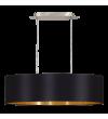 Pendul MASERLO 31611 Eglo, E27, 2x60W, nichel satinat, negru-auriu