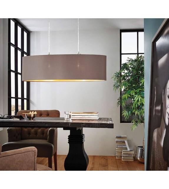 Pendul MASERLO 31614 Eglo, E27, 2x60W, nichel satinat, cappuccino-auriu