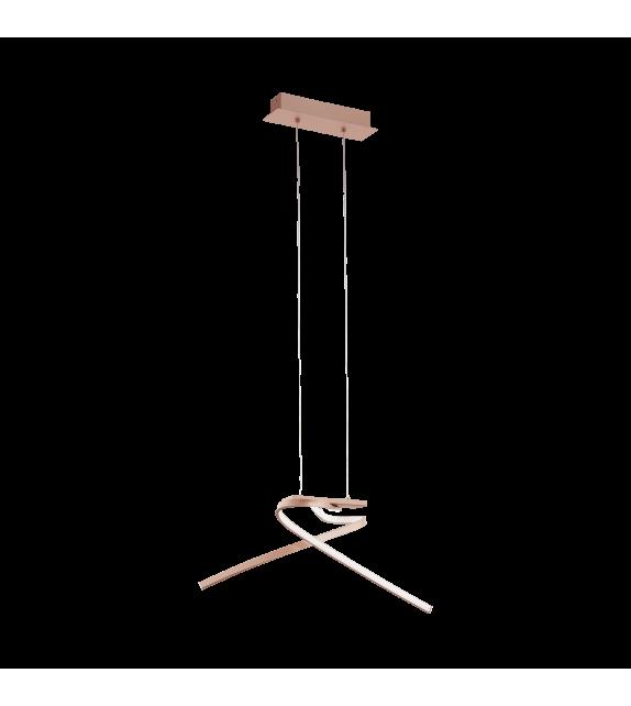 Pendul PALOZZA 97362 Eglo, LED, 2x11W, 3000lm, auriu roze