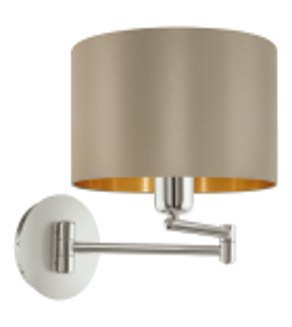 Aplica MASERLO 95055 Eglo, E27, 1x60W, nichel satinat, taupe-auriu