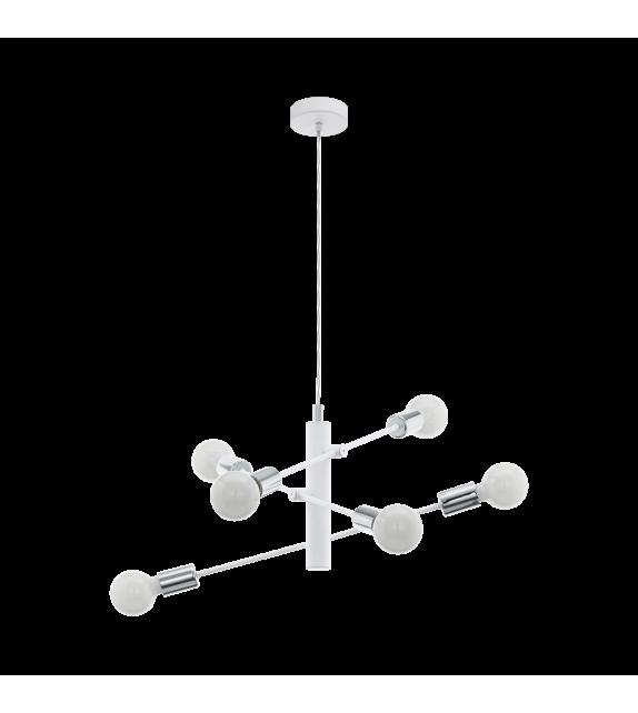 Pendul GRADOLI 98016 Eglo, E27, 6x60W, crom-alb