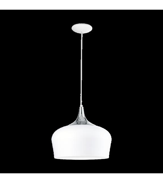 Pendul OBREGON 95384 Eglo, E27, 1x60W, alb-crom