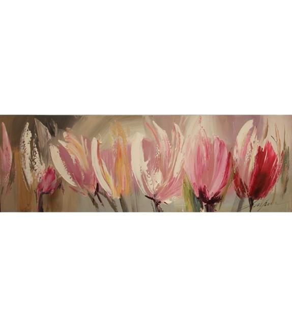Tablou pictat manual Beauty, dimensiunea 40x120cm