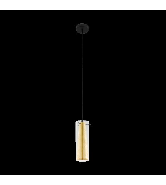 Pendul PINTO GOLD 97651 Eglo, E27, 1x60W, negru-auriu