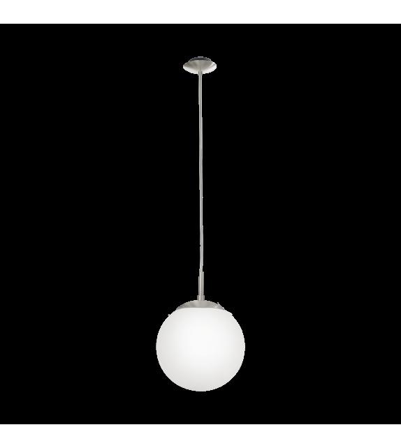 Pendul RONDO 85261 Eglo, E27, 1x60W, nichel satinat-alb