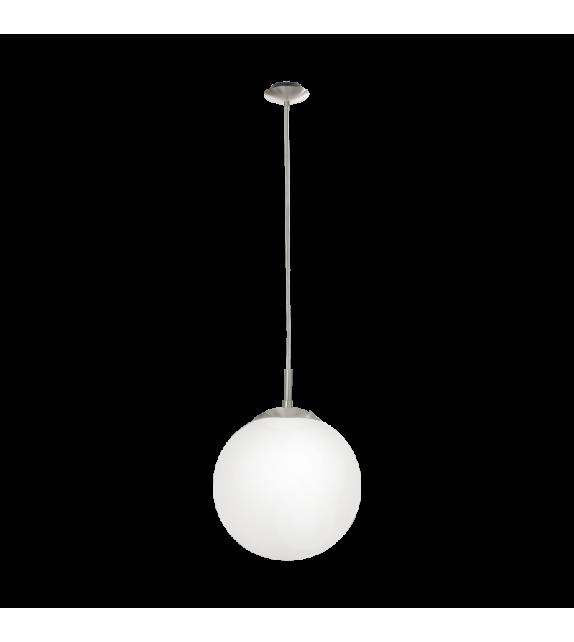 Pendul RONDO 85263 Eglo, E27, 1x60W, nichel satinat-alb