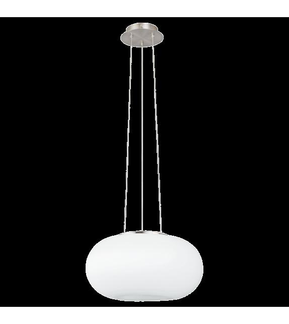 Pendul OPTICA 86814 Eglo, E27, 2x60W, nichel satinat-alb
