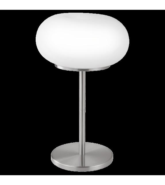 Veioza OPTICA 86816 Eglo, E27, 2x60W, nichel satinat-alb