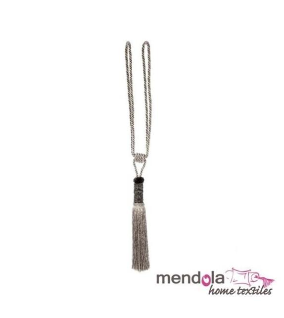 Ciucure draperie Mendola Home Textiles, 19/70cm, argintiu