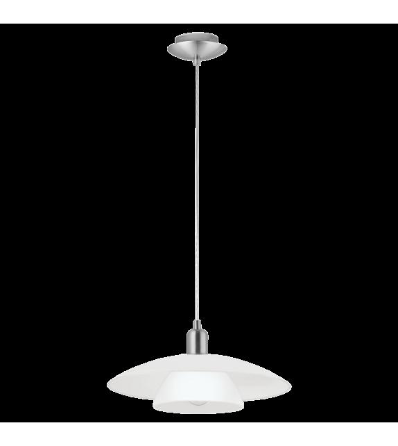 Pendul BRENDA 87052 Eglo, E27, 1x60W, nichel satinat-alb