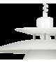 Pendul BRENDA 87055 Eglo, E27, 1x60W, alb-crom