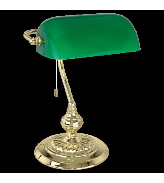 Lampa de birou BANKER 90967 Eglo, E27, 1x60W, otel-sticla, alama-verde
