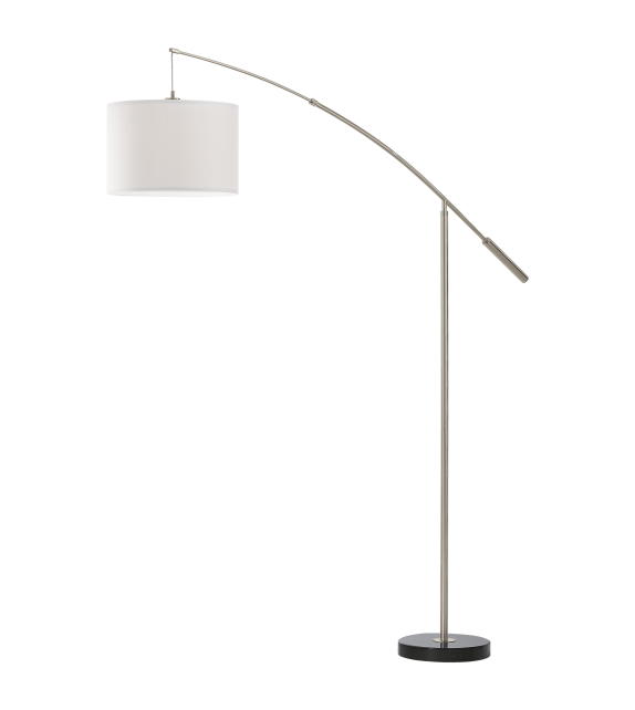 Lampadar NADINA 92206 Eglo, E27, 1x60W, nichel satinat/alb