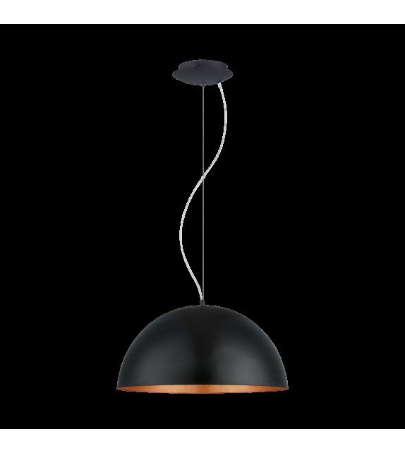 Pendul GAETANO 94938 Eglo, E27, 1x60W, negru/cupru