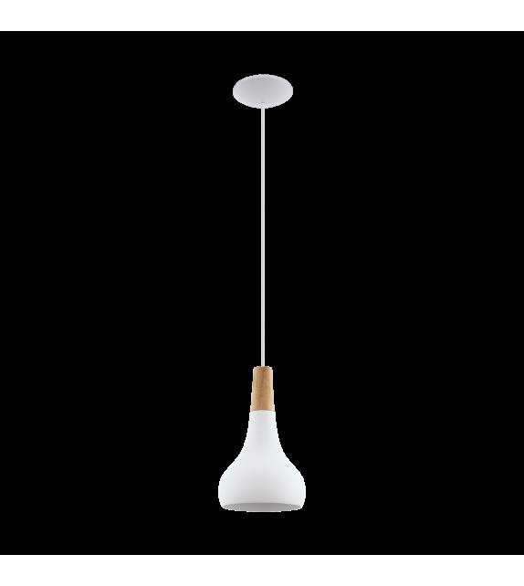 Pendul SABINAR - 96981 Eglo, E27, 1x60W, alb/maro