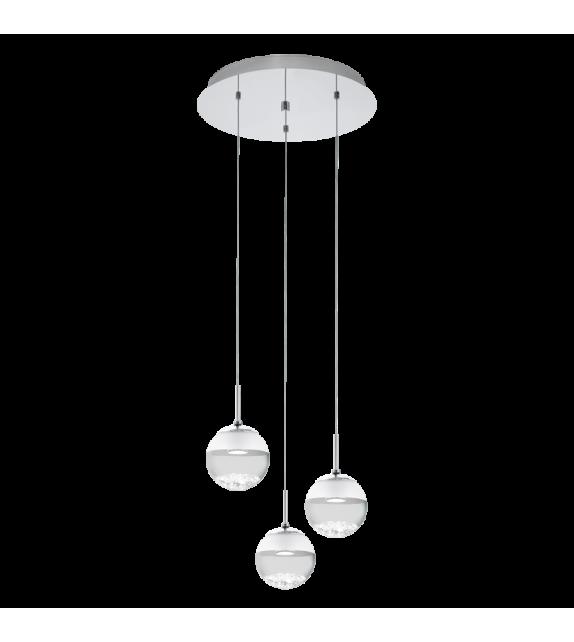 Pendul MONTEFIO - 93709 Eglo, LED 3x5W, 3x480lm, crom