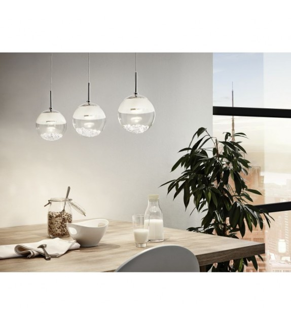 Pendul MONTEFIO - 93784 Eglo, LED 3x5W, 3x480lm, crom