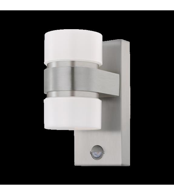 Aplica exterior ATOLLARI - 96277 Eglo, cu senzor de miscare, LED, 2x6W, 1000lm, aluminiu, argintiu
