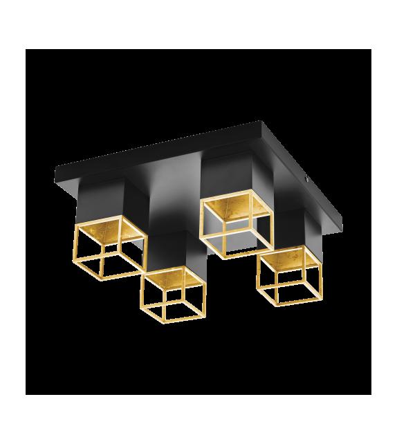 Plafoniera MONTEBALDO - 97731 Eglo, GU10 4x5W, 1600lm, negru/auriu