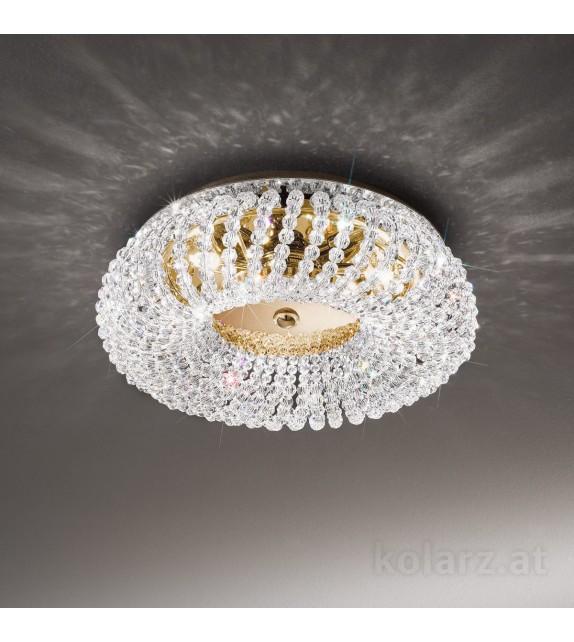 Plafoniera CARLA, KOLARZ Pure Crystals, D35, placat cu aur de 24 de carate