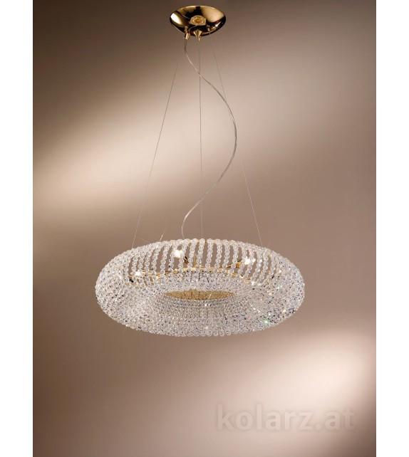 Pendul CARLA, KOLARZ Pure Crystals, D55, placat cu aur de 24 de carate