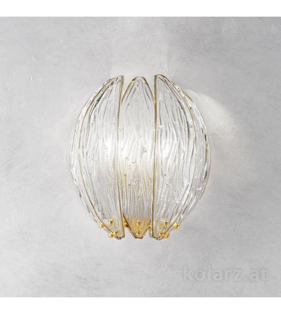 Aplica DALIA, KOLARZ, Sticla Murano, placat cu aur de 24 carate
