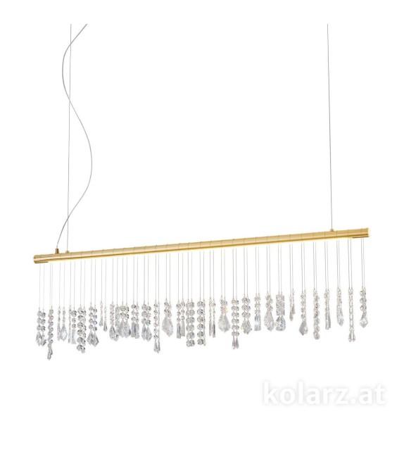 Pendul STRETTA, KOLARZ, LED 32W, 2085lm, placat cu aur de 24 de carate