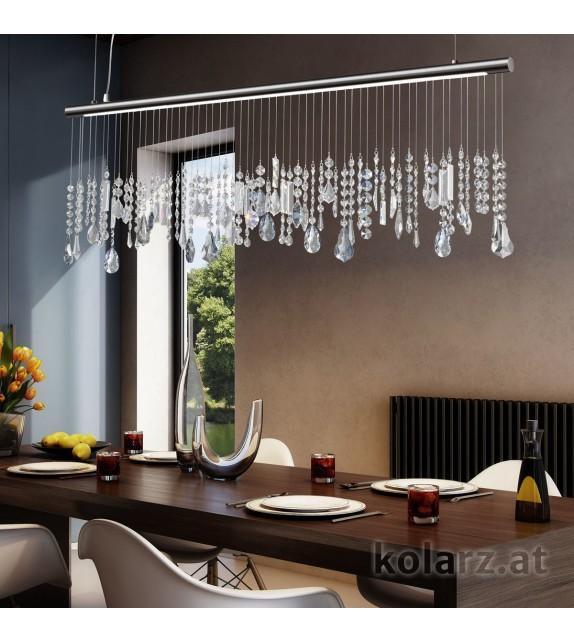 Pendul STRETTA, KOLARZ Optic Crystals, LED 14W, 1800lm, crom negru