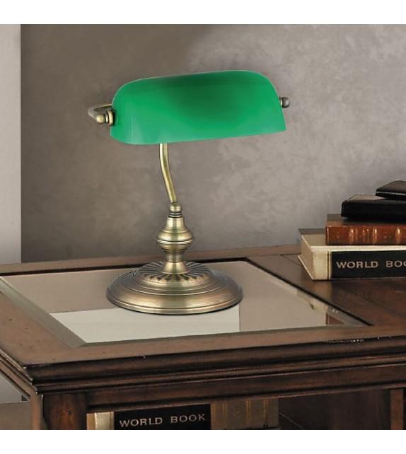 Lampa de birou Bank 4038 Rabalux, E27 60W, bronz-verde