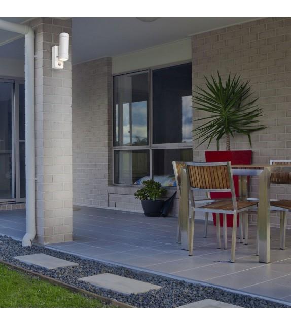 Aplica exterior cu senzor MEDINA 8839 Rabalux, LED GU10, 2x10W, IP44, alb mat