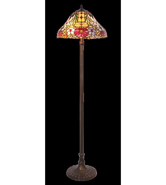 Lampadar MIRELLA - 8088 Rabalux, E27, 2x60W, bronz, sticla tiffany