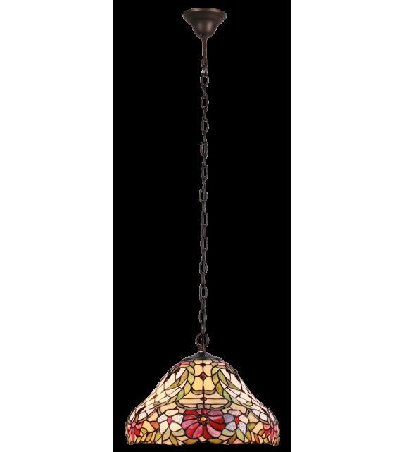 Pendul MIRELLA - 8086 Rabalux, E27, 2x60W, bronz, sticla tiffany
