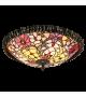 Plafoniera MIRELLA - 8087 Rabalux, E27, 2x60W, bronz, sticla tiffany