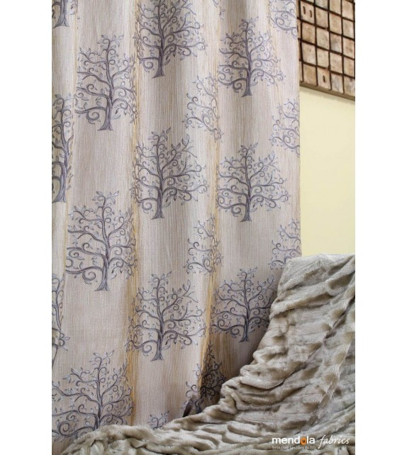 Material draperie decor Erinn, latime 300cm, crem, maro