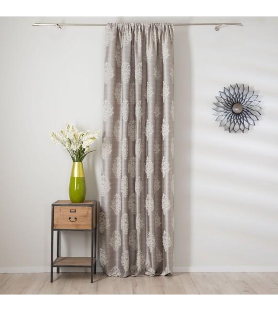 Material draperie decor Charm, latime 290cm, gri