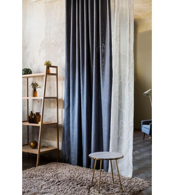 Material draperie decor Borgia, latime 290cm, albastru