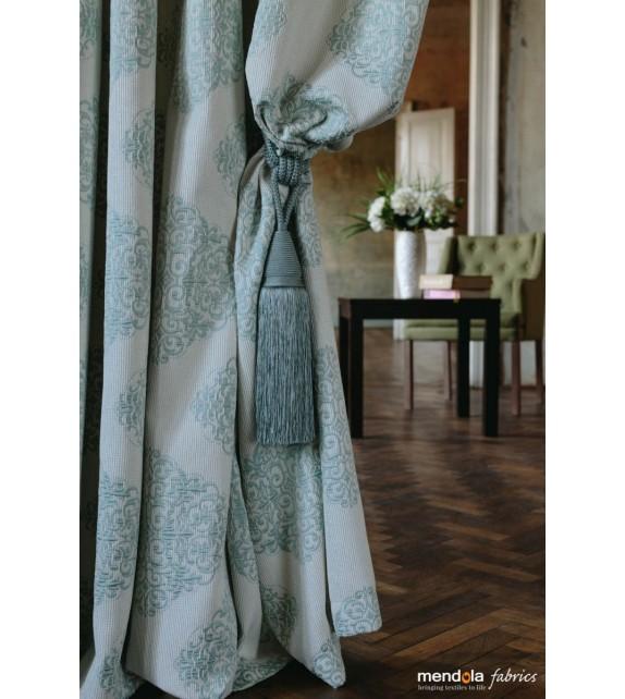 Metraj draperie cu decor GALLIANO, latime 280 cm, albastru