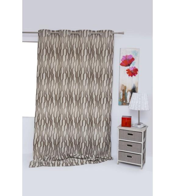 Material draperie cu decor Acapella, latime 280 cm, gri