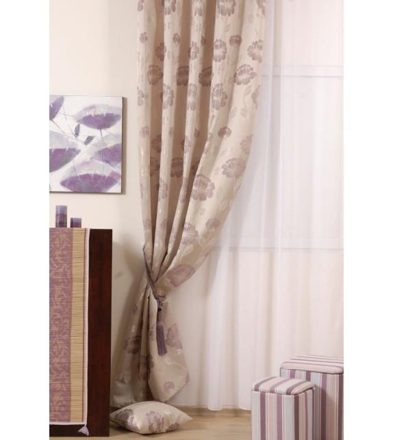 Material draperie decor Izolde, latime 280cm, bej, mov