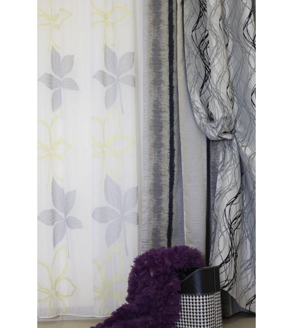 Material draperie decor Flux, latime 290cm, gri